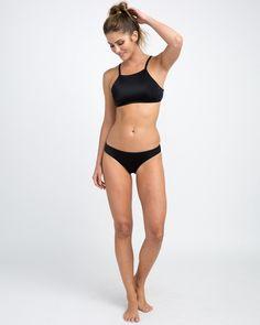 Rvca Solid Bikini Crop Top - XS