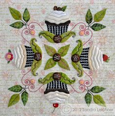 Cutest dang thing I've seen this week! cup cake block by Sandra Leichner