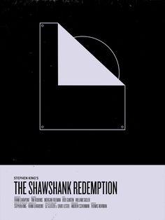 The Shawshank Redemption / Die Verurteilten Minimal Movie Posters, Minimal Poster, Forrest Gump, Movie Poster Art, Film Posters, Poster Series, Tv Series, Die Verurteilten, Cultura Nerd