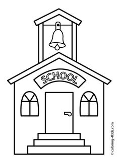 school building coloring page classes coloring page for kids printable free