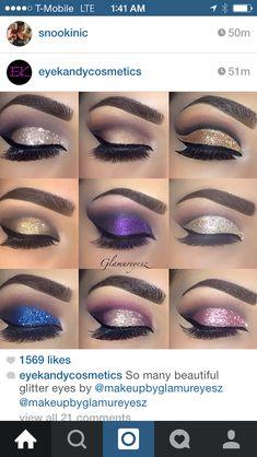 Eye make up Gorgeous Makeup, Pretty Makeup, Love Makeup, Makeup Inspo, Makeup Inspiration, Makeup Ideas, Lila Make-up, Eye Make, Makeup Goals