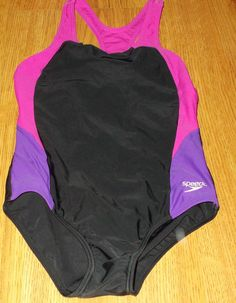 Speedo Girls Swimsuit Bathing Suit Black Pink Purple Size 12 #Speedo #Swimsuit Pink Girl, Pink Purple, Comedy Stories, Thirty Four, Kids Swimming, Swimsuits, Swimwear, Short Stories, Kids Girls