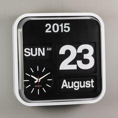 Karlsson Big Flip Calendar Clock
