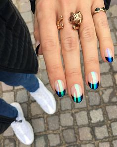 The Top Nail Trends of The Year (So Far) diana ajih dajih Cool Nail Designs Consider this your go-to guide for manicure ideas for the rest of the year. We pulled together the biggest nail trends for 2019 from the spring-summer runways and from Instag Minimalist Nails, Nail Designs Spring, Nail Art Designs, Spring Nail Trends, New Nail Trends, Short Nail Designs, Nails Design, Nail Color Trends, Latest Trends