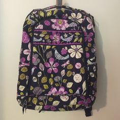 Vera Bradley Laptop Backpack Printed fabric backpack from 2011. With laptop compartment and room in front pocket for school ID, pens and odds and ends. Book area large enough for a binder and books, perfect for going off to college in style! Used my senior semester and haven't used it since, great bag with no problems Vera Bradley Bags Backpacks