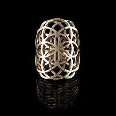Flower of life Brass ring// sacred geometry.