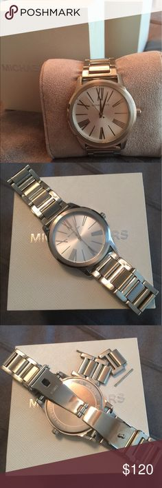 Michael Kors Watch MK-3489 This watch has been lightly worn and is silver, stainless steel. Michael Kors Accessories Watches
