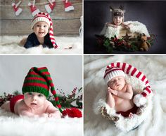 gorros navidad bebés