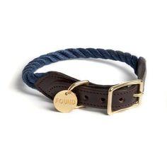 Rope Cat & Dog Collar - Navy