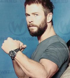 Chris Hemsworth Oh when he is all rugged and manly....ouch!