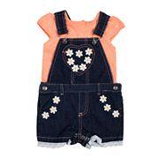 Little Lass® Shortall and Tee Set - Toddler Girls 2t-4t