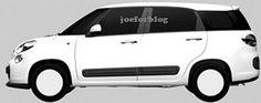 Patentafbeeldingen Fiat 500L zevenzitter gelekt | FIATblog.nl