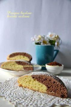 Parigini bicolore biscotti siciliani Italian Cookie Recipes, Sicilian Recipes, Italian Cookies, Italian Desserts, Biscotti Cookies, Biscotti Recipe, Galletas Cookies, Yummy Cookies, Cookie Desserts