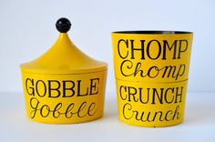 Set of 3 Vintage Retro Yellow Stacking / Nesting Japanese Snack Bowls with Lid  You know how you would go home for the holidays during college and youd visit your grandparents and theyd always have snacks for guests out, no matter when youd stop by? Relive those days with this unique stacking/nesting snack set by Ann Seymour! These sets are highly collectible and great for display. Start your collection today!  Marked: Ann Seymour Made in Japan  Colors: Yellow and black  Measurement...