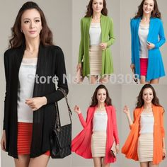 Women Ladies Long Sleeve Colorful Stripes Rainbow V-neck Button Autumn Tops Knitting Knitwear Sweater Cardigans Outerwear