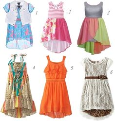 hi-low dresses for girls ages 2-6