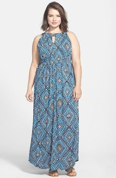 Lucky Brand 'Goddess' Print Maxi Dress (Plus Size) available at #Nordstrom