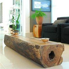 Mesa de centro/mesa lateral - Madeirado - Móveis de madeira maciça