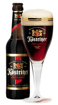 Kostritzer Schwarzbier -- It starts with a semi-sweet malt taste that reminds me of chocolate chips, it then turns to a slightly burnt toast taste with a hint of dry espresso and ending with a grainy almost hay-like lager snap with a hint of pepper. Fun Drinks, Alcoholic Drinks, Beverages, Beer Images, I Like Beer, Dark Beer, Beers Of The World, Beer Packaging, Drink Recipes