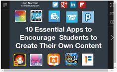 10 Essential Apps to Encourage Students to Create Their Own Content