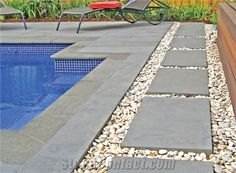 China Grey Basalt / Hainan Grey Basalt / Hainan Basalt /Lava Stone /Basaltina /Basalto /Inca Grey Pool Coping Pavers Tiles - Xiamen J&S Stone Co. Pool Pavers, Concrete Pool, Bluestone Pavers, Driveway Pavers, Landscaping Around Pool, Landscaping With Rocks, Landscaping Ideas, Yard Landscaping, Swimming Pools Backyard