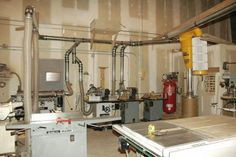 Dust collection and shop layout