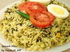Spinach Pilau - made*