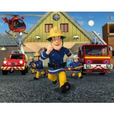 Check out Fireman Sam Wallpaper Mural x from Tesco direct Fireman Sam Toys, Fireman Sam Cake, Fireman Party, Fireman Room, Birthday Greeting Cards, Birthday Greetings, Cheap Baby Clothes, Photo Mural, Boys Wallpaper