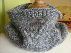 Knitting: Textured cowl free pattern in English and French, avec tuto