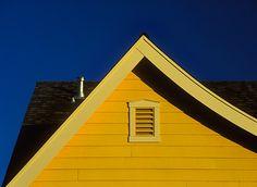 Cat slide roof detail on the Eastwood model in the Doe Mill Neighborhood development, Chico.