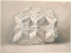 J Flower Vol 2 Norman Chevron Saint Mary's, Leicester J Flower May 1850 From John Flower artwork volumes 1 & 2 Flower Artwork, Leicester, Norman, Chevron, Decorative Boxes, Mary, Creative, Artist, Artists