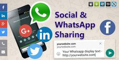 Social & WhatsApp Sharing #Android, #AppstormEurope, #Email, #Facebook, #GooglePlus, #Iphone, #Linkedin, #Pinterest, #Share, #Sharing, #Social, #SocialNetworks, #Whatsapp, #Windows http://goo.gl/9XpWfD