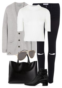 """""""Untitled #2143"""" by rosyfilm ❤ liked on Polyvore featuring Mulberry, Frame Denim, Topshop, Chloé and Yves Saint Laurent"""