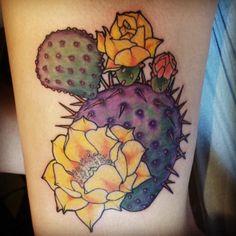 Resultado de imagen para flor de cactus tattoo