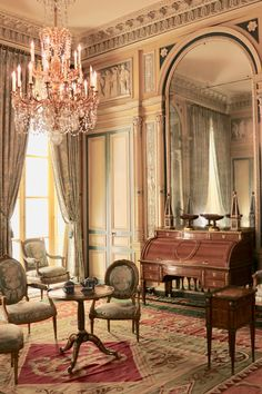 This superb French room is the drawing room of the Hotel de Serres, circa It's been recreated in the Museum of Decorative Arts, Paris. Some inspiration for a chic Parisian apartment. Photo courtesy of Brocanteuse French Homewares. Architecture Design, French Architecture, Classical Interior Design, French Interior, French Apartment, Parisian Apartment, Parisian Room, French Style Decor, Hotel Decor