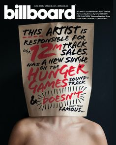 wow, just wow.....somebody who does ot want to be famous.........Back in the day there was the unknown comic who put a bag over his head and did standup.  Now there's SIA.....Sia: The Billboard Cover Story