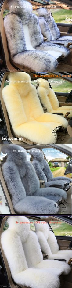 1 Pc New Style White 100 Natrual Sheepskin Car Seat Cover Deluxecar Accessories Cushion