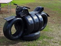 You will love these Tire Garden Art Ideas and they are a fantastic way to make a … – garten – Recycling Tire Playground, Children Playground, Tire Craft, Tire Garden, Tyres Recycle, Recycled Tires, Recycled Garden Art, Repurpose, Used Tires