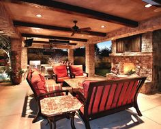 Mediterranean Patio Outdoor Kitchen Design, Pictures, Remodel, Decor and Ideas - page 2.  Like the seating