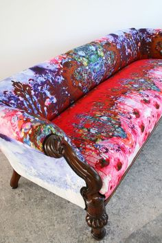Image result for vintage sofas upholstered in bold modern fabrics