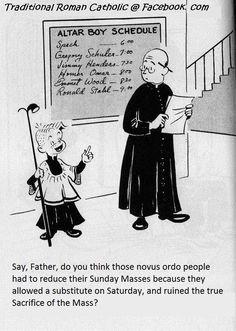 Speck the Altar Boy Catholic Memes, Catholic Kids, Catholic School, Roman Catholic, Funny Boy, Eucharist, Faith In Love, Funny Cartoons, True Religion
