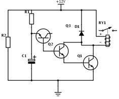 circuito para relé com atraso para ligar