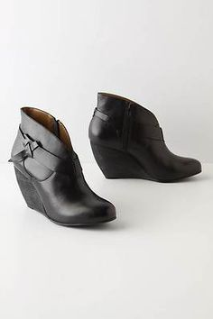 Anthropologie Belted Booties By Schuler & Sons