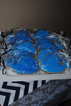 Nautical party, whale cookies! *griffins first birthday*