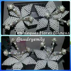 Tembleques Flores Blancas