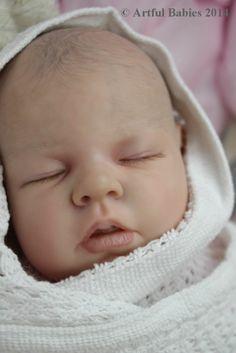 BEAUTIFUL REBORN NOAH SCHICK ~ SO REAL ~ BABY GIRL DOLL ~ ARTFUL BABIES ~