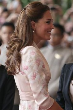 Kate in pink flowered dress #pink