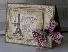 Eiffel tower card cards