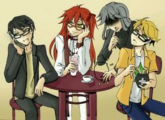 William, Grell, Undertaker, and Ronald out for lunch..