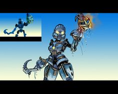 Bionicle: Toa Gail (MNOLG Scene Redraw) by Danny-Jay.deviantart.com